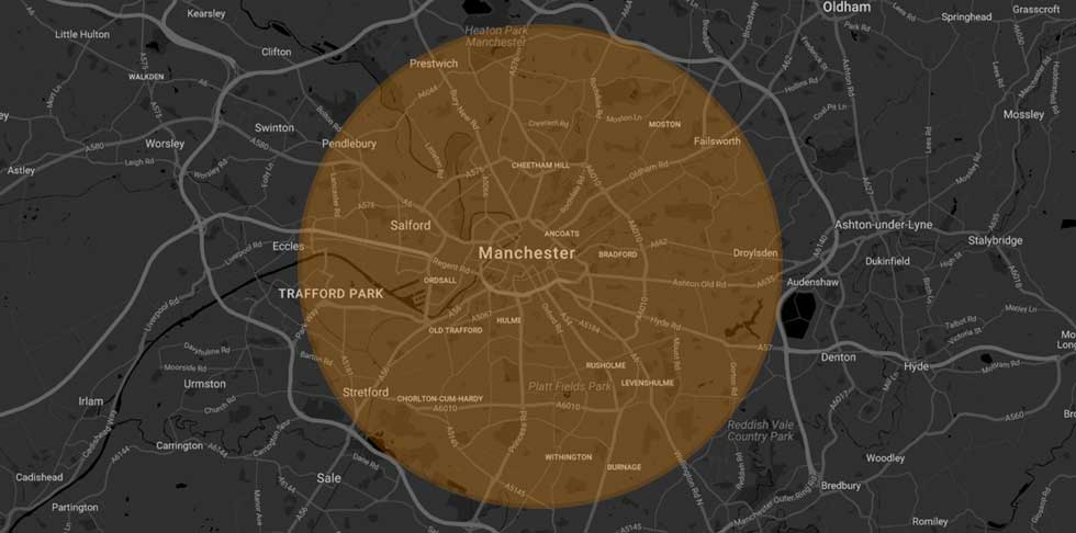 Map of Manchester