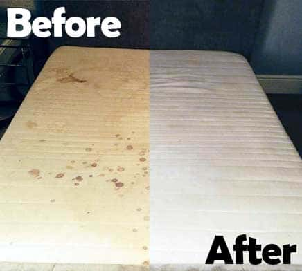 Mattress Clean Before and AfterMattress Clean Before and After